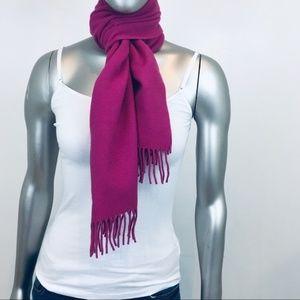 J CREW Soft Wool Pink Long Scarf